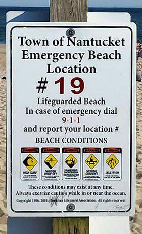 Emergency Beach Location   Nantucket, MA