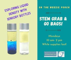 STEM Grab & Go Bag: Sensory Bottles   Nantucket, MA